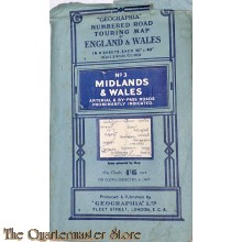 Road touring Map Midlands & Wales 1935-40s