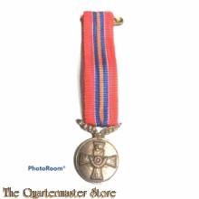 Medaille voor het 10-jarig lidmaatschap van de Bond van Nederlandse Militaire Oorlogsslachtoffers (Miniatuur)