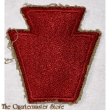 """Mouwembleem 28e Infanterie Divisie (Sleeve patch 28th """"Blooody bucket or Keystone"""" Infantry Division)"""