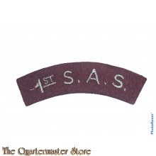 Shoulder title  1st S.A.S. Special Air Service  (arched)