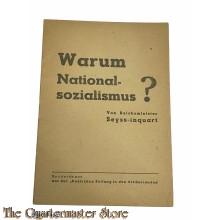 Propagandaschrift  Warum National-Sozialismus? / von Reichskommissar Seyss-Inquart Maart 1945