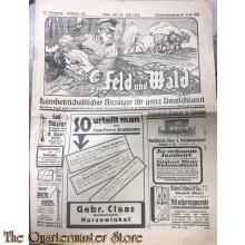 Feld und Walt, Landwirtschaftlicher Anzeiger fur ganz Deutschland 23-07-1926