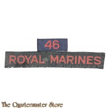"""Cash title"" Shoulder flash no 46 Royal Marines"