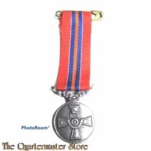 Medaille voor het 25-jarig lidmaatschap van de Bond van Nederlandse Militaire Oorlogsslachtoffers (Miniatuur)
