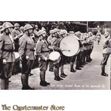 Prent briefkaart 1940 stukje muziek