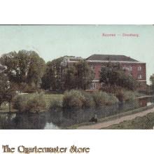 Prent briefkaart 1912 Kazerne Doesburg