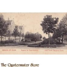 Prent briefkaart 1905 Bergen op Zoom Kazerne der Veld Artillerie