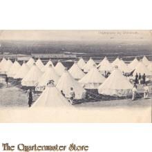 Prent briefkaart 1905 Legerplaats bin Oldenbroek