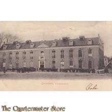 Prent briefkaart 1908 Willems Kazerne Gorinchem