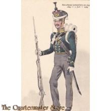 Prent briefkaart 1929 Eeuwfeest grenadiers en Jagers