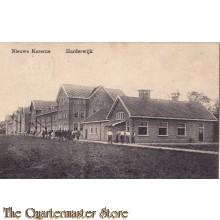 Prent briefkaart 1914 Nieuwe kazerne Harderwijk