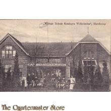 Prent briefkaart 1914 Militair tehuis Koningin Wilhelmina Harskamp
