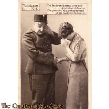 Prent briefkaart 1914 Mobilisatie II  Heeren