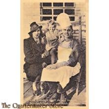 Prent briefkaart 1940 Kok bezoek