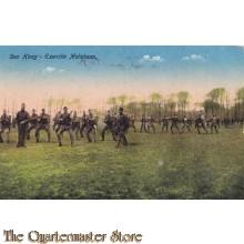 Prent briefkaart 1923 Den Haag Exercitie Maliebaan