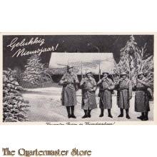 Prent briefkaart 1940 Vriendenschaar, nieuwe jaar