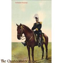 Prent briefkaart 1914 Luitenant-Generaal