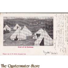Prent briefkaart 1908 Groet uit de Harskamp