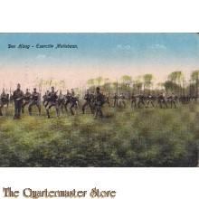 Prent briefkaart 1918 s'Gravenhage Exercitie Maliebaan
