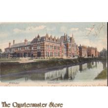 Prent briefkaart 1904 Alkmaar kadettenschool