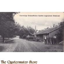 Prent briefkaart 1925 Voormalige onderofficiers Cantine Legerplaats Oldebroek