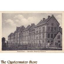 Prent briefkaart 1913 Amersfoort, bereden Wapens Kazerne