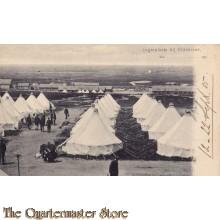 Prent briefkaart 1905 Legerplaats bij Oldenbroek