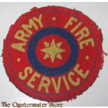 Sleeve badge Army Fire Service (canvas)