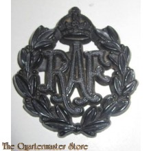 Cap badge Royal Air Force RAF WW2 plastic
