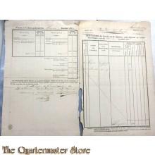 Monsterrol der Paarden van de Officieren, onder Officieren en Manschappen 1832