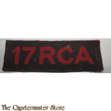 Shoulder title 17 RCA (canvas)