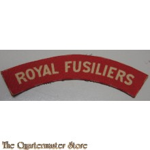 Shoulder title Royal Fusiliers (canvas)