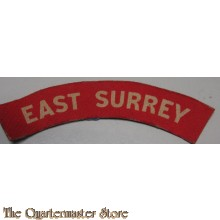 Shoulder title East Surrey (canvas)