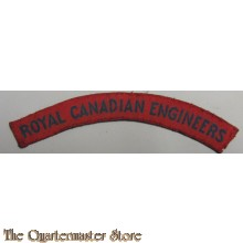 Shoulder title Royal Canadian Engineers (canvas)