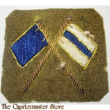 Crossed Flags Signaller Bullion Badge