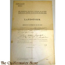 Kennisgeving van inschrijving voor den dienst Landstorm 1919