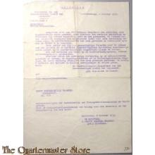 Afschrift Inspecteur vd Gen Kundige DIenst der Landmacht 1939 Eerste Hulpkaarten