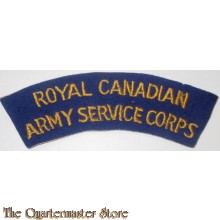 Shoulder title Royal Canadian Army Service Corps RCASC