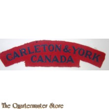 Shoulder title Carleton & York Regiment Canada 1st Canadian Infantry Division