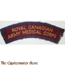 Shoulder flash Royal Canadian Army Medical Corps R.C.A.M.C. (canvas)