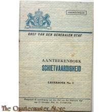 Legerboek no 1 aantekenboek schietvaardigheid 1946