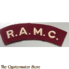 Shoulder title Royal Army Medical Corps (R.A.M.C.)