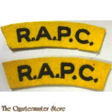 Shoulder flashes Royal Army Pay Corps (R.A.P.C.)