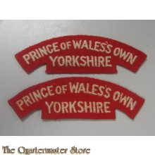 Shoulder titles The Prince of Wales's Own Regiment of Yorkshire  1958/2006