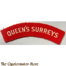 Shoulder title Queen's Royal Regiment (West Surrey)