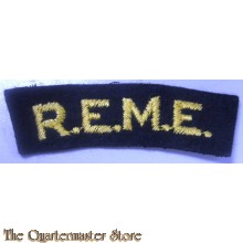 Shoulder title Royal ELectrical and Mecanical Engineers (R.E.M.E.)