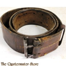 French WW2 leather belt EM/NCO