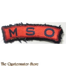 shoulder title M.S.O.