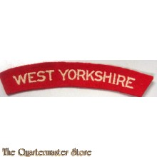 Shoulder title West Yorkshire Regiment