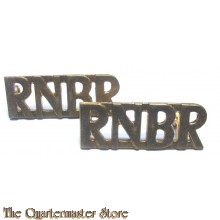 Shoulder titles Royal New Brunswick Reg (R.N.B.R) brass